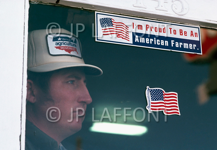 Campo, CO. February 1983.<br /> Farmer and member of the American Agricultural Movement.
