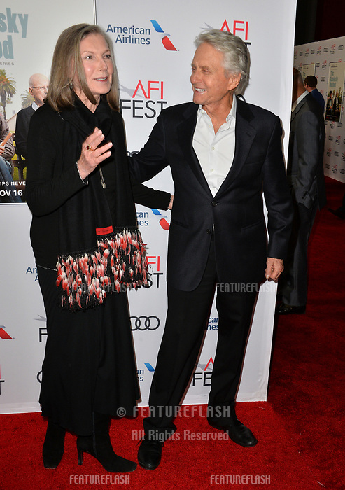 """LOS ANGELES, CA. November 10, 2018: Susan Sullivan & Michael Douglas at the AFI Fest 2018 world premiere of """"The Kominsky Method"""" at the TCL Chinese Theatre.<br /> Picture: Paul Smith/FeatureflashLOS ANGELES, CA. November 10, 2018: Susan Sullivan at the AFI Fest 2018 world premiere of """"The Kominsky Method"""" at the TCL Chinese Theatre.<br /> Picture: Paul Smith/Featureflash"""
