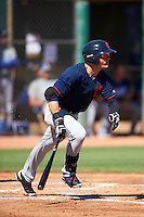 Cleveland Indians Mitch Longo (22) during an Instructional League game against the Los Angeles Dodgers on October 10, 2016 at the Camelback Ranch Complex in Glendale, Arizona.  (Mike Janes/Four Seam Images)