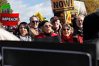 Actress and political activist Jane Fonda, center, joined by Ben Cohen and Jerry Greenfield of Ben and Jerry's Ice Cream, participates in a climate march from Capitol Hill to the White House in Washington D.C., U.S., on Friday, November 8, 2019.  Activists marched to draw attention to the need to address climate change.  Credit: Stefani Reynolds / CNP /MediaPunch
