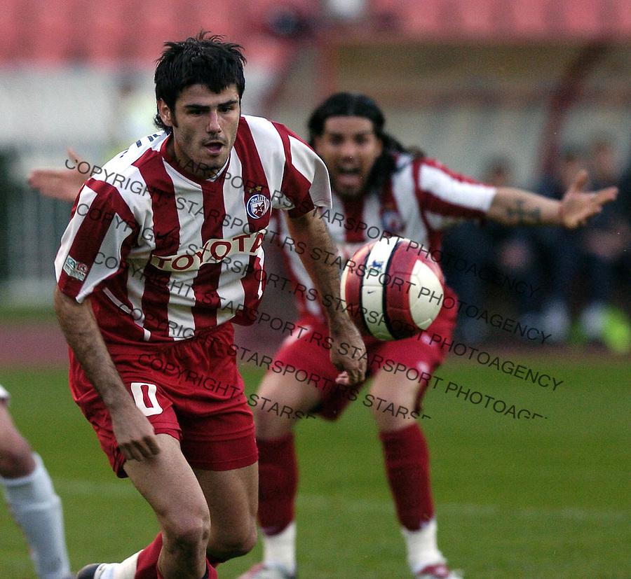SPORT FUDBAL SOCCER FOOTBALL CRVENA ZVEZDA RED STAR SEVOJNO KUP CUP 25.10.2006 photo: Pedja Milosavljevic Milan Purovic<br />