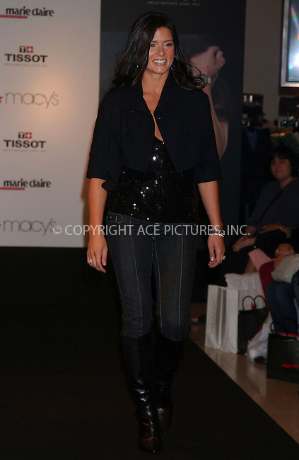 WWW.ACEPIXS.COM . . . . .....October 24, 2007. New York City.....IndyCar driver Danica Patrick launches the Tissot Watch Holiday Collection at Macy's Herald Square...  ....Please byline: Kristin Callahan - ACEPIXS.COM..... *** ***..Ace Pictures, Inc:  ..Philip Vaughan (646) 769 0430..e-mail: info@acepixs.com..web: http://www.acepixs.com