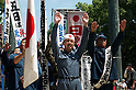 August 15, 2011, Tokyo, Japan - Members of a right-wing group shout Banzai during commemorations marking the end of WW2. (Photo by Bruce Meyer-Kenny/AFLO) [3692]