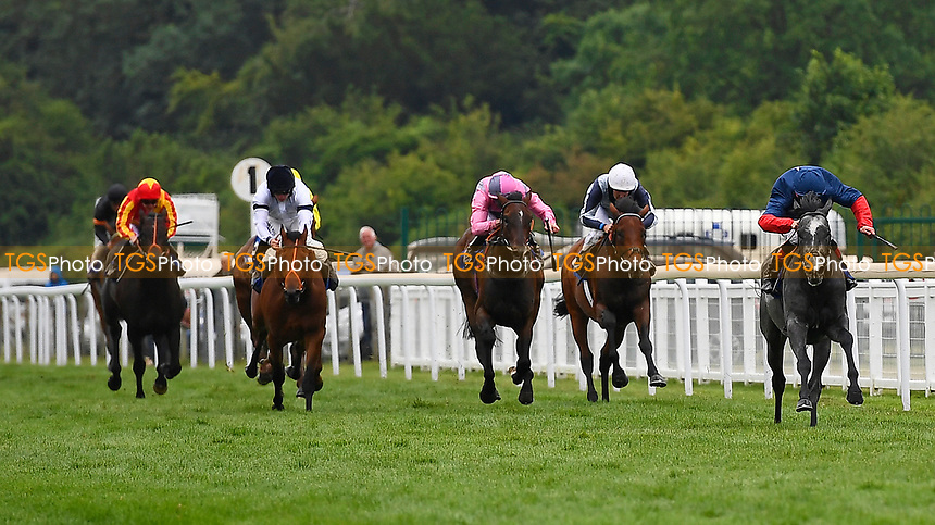 Winner of The British Ebf Venture Security Maiden Stakes,  See of Rome ridden by Shane Kelly and trained by Richard Hughes during Whitsbury Manor Stud Bibury Cup Day Racing at Salisbury Racecourse on 28th June 2017