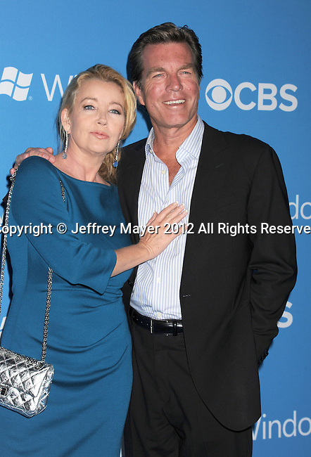 WEST HOLLYWOOD, CA - SEPTEMBER 18: Melody Thomas Scott and Peter Bergman arrive at the CBS 2012 fall premiere party at Greystone Manor Supperclub on September 18, 2012 in West Hollywood, California.