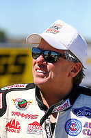Sept. 21, 2013; Ennis, TX, USA: NHRA funny car driver John Force during the Fall Nationals at the Texas Motorplex. Mandatory Credit: Mark J. Rebilas-