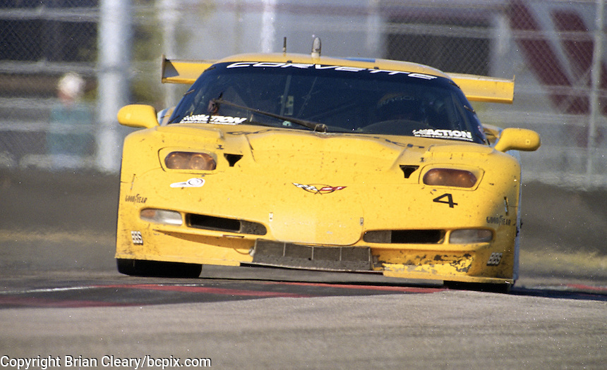 The #4 Corvette C5-R of Andy Pilgrim, Kelly Collins and Franck Freon races to a 24th place finish in the Rolex 24 at Daytona, Daytona International Speedway, Daytona Beach, FL, February 2000.  (Photo by Brian Cleary/www.bcpix.com)