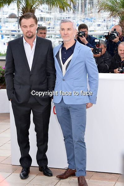 """Leonardo DiCaprio (Actor) and Baz Luhrmann (Director) attending the """"THE GREAT GATSBY"""" Photocall during the 66th annual International Cannes Film Festival in Cannes, France, 15th May 2013. Credit: Timm/face to face"""