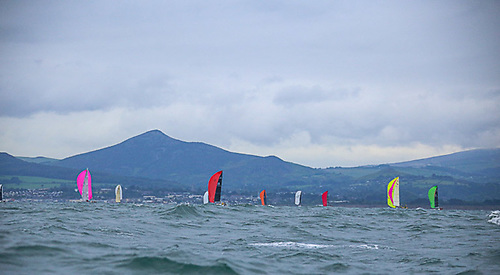 Offshore yacht racing off the Wicklow coast