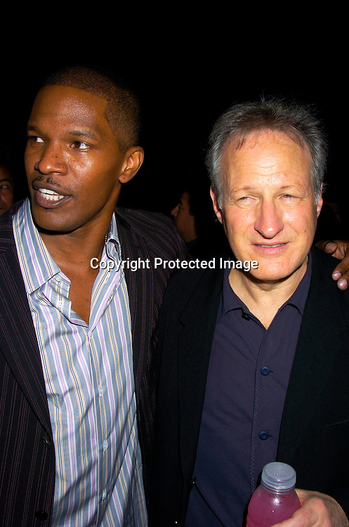 "Jamie Foxx and  Director Michael Mann ..at the 8th Annual Urbanworld Film Festival ' s opening ..night of "" Collateral "" on August 4, 2004 at the  Magic Johnson Theatre in Harlem.                                                    Photo by Robin Platzer, Twin Images"