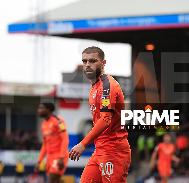Elliot Lee of Luton Town during the Sky Bet League 1 match between Luton Town and Gillingham at Kenilworth Road, Luton, England on 16 March 2019. Photo by Liam Smith.