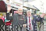 Fr Michael Murphy and Killarney Mayor Sean Counihan who were the grand masters of the KIllarney St Patrick's day parade on Saturday