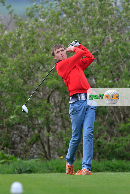 Bill Murray (Waterford Castle) on the 15th tee during Day 1 of The Munster Youths' Amateur Open Championship in Dungarvan Golf Club on Wednesday 23nd April 2014.<br /> Picture:  Thos Caffrey / www.golffile.ie