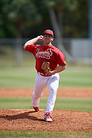St. Louis Cardinals pitcher Paul Balestrieri (21) during a Minor League Spring Training game against the Houston Astros on March 27, 2018 at the Roger Dean Stadium Complex in Jupiter, Florida.  (Mike Janes/Four Seam Images)