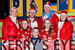 Getting into the Christmas spirit were front Emma, Darragh, and Kate McCarthy, back; Aidan Moynihan, Paul O'Neill, Peter O'Leary and Aisling Crosbie at the Christmas in Killarney parade on Friday night