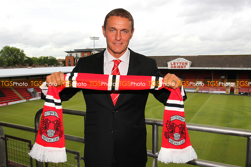 Ian Hendon poses for a photograph after the press conference - Leyton Orient FC Press Conference to announce new manager Ian Hendon at Brisbane Road, Leyton Orient FC, Leyton, London - 29/05/15 - MANDATORY CREDIT: Gavin Ellis/TGSPHOTO - Self billing applies where appropriate - contact@tgsphoto.co.uk - NO UNPAID USE