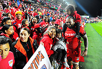 Bunty Afoa mingles with fans after the 2017 Rugby League World Cup match between Toa Samoa and Mate Ma'a Tonga at FMG Stadium in Hamilton, New Zealand on Saturday, 4 November 2017. Photo: Dave Lintott / lintottphoto.co.nz
