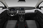 Stock photo of straight dashboard view of a 2018 Hyundai Kona SEL AUTO 5 Door SUV