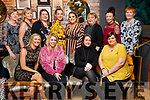 Enjoying Women's Christmas at the Ashe Hotel, Tralee on Saturday night last were front l-r: Sharon McElligott, Caroline Morrissey, Claire Moriarty and Karen Lonergan. Back l-r: Trish Dempsey, Helen McElligott, Melissa Donnelly, Alicia O'Connor, Katie O'Connor, Therese Carroll, Andrea Moriarty and Jackie Moriarty.