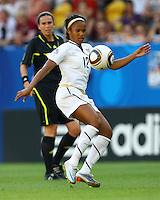 USA's Zakiya Bywaters during the FIFA U20 Women's World Cup at the Rudolf Harbig Stadium in Dresden, Germany on July 14th, 2010.