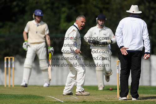 Scottish National Cricket League - Grange V Uddingston at Reaburn Place, Edinburgh - Opening match of the new season for last years Champions Grange hosting Uddy - Veteren spinner appeals without success for an lbw decision against a home batsman Giles Holmes - Picture by Donald MacLeod 1 May 2009