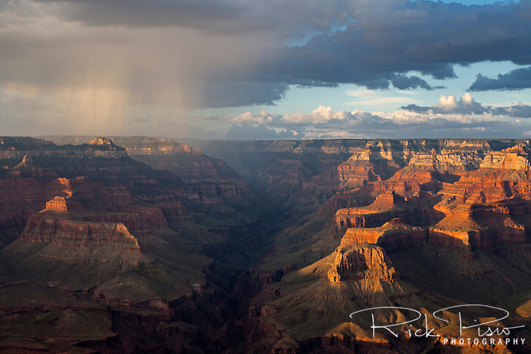 A summer squall passes over Grand Canyon National Park