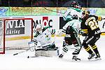 Stockholm 2014-03-21 Ishockey Kvalserien AIK - R&ouml;gle BK :  <br /> R&ouml;gles Kevin Lindskoug med en r&auml;ddning i sudden death<br /> (Foto: Kenta J&ouml;nsson) Nyckelord: