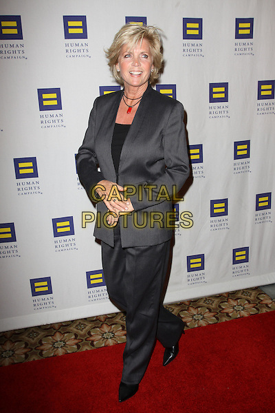 MEREDITH BAXTER .Attending the Human Rights Campaign Los Angeles Gala held At The Hyatt Century Plaza Hotel, Century City, California, USA, .13th March 2010..arrivals full length grey gray suit trousers jacket .CAP/ADM/KB.©Kevan Brooks/Admedia/Capital Pictures