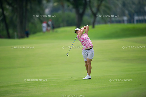 Karine Icher (FRA),.MARCH 3, 2013 - Golf :.Karine Icher of France in action during the final round of the the HSBC Women's Champions golf tournament at Sentosa Golf Club in Singapore. (Photo by Haruhiko Otsuka/AFLO)