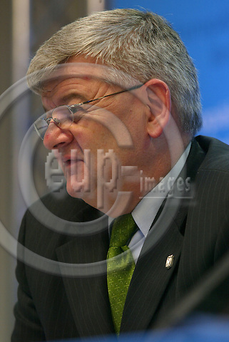 Belgium - Brussels - Council - 17 JUNE 2004 - EU-Summit, Irish Presidency - german briefing room - Joschka FISCHER, Foreign Minister; Germany -  PHOTO: EUP-IMAGES / ANNA-MARIA ROMANELLI