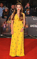 """LONDON, ENGLAND - OCTOBER 08: Katherine Langford at the BFI London Film Festival """"Knives Out"""" American Express gala, Odeon Luxe Leicester Square, Leicester Square on Tuesday 08 October 2019 in London, England, UK. <br /> CAP/CAN<br /> ©CAN/Capital Pictures"""