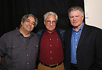 "Stephen Adly Guirgis, John Gould Rubin and Treat Williams attends the photo call for The Dorset Theatre Festival revival of David Mamet's ""American Buffalo""  at the Actors Connection on March 23, 2017 in New York City"