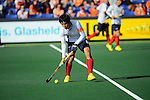 The Hague, Netherlands, June 01: Seungil Lee #8 of Korea controls the ball during the field hockey group match (Men - Group B) between the Black Sticks of New Zealand and Korea on June 1, 2014 during the World Cup 2014 at GreenFields Stadium in The Hague, Netherlands. Final score 2:1 (1:0) (Photo by Dirk Markgraf / www.265-images.com) *** Local caption ***