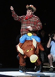 """13 October 2006: UNC's Dewey Burke impersonates an NC State student during a """"Mr. ACC"""" skit. The University of North Carolina at Chapel Hill Tarheels held their first Men's and Women's basketball practices of the season as part of """"Late Night with Roy Williams"""" at the Dean E. Smith Center in Chapel Hill, North Carolina."""