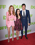 Bella Thorne, Robbie Amell and Mae Whitman attends The CBS Films Los Angeles fan screening of THE DUFF held at The TCL Chinese 6 Theater  in Hollywood, California on February 12,2015                                                                               © 2015 Hollywood Press Agency