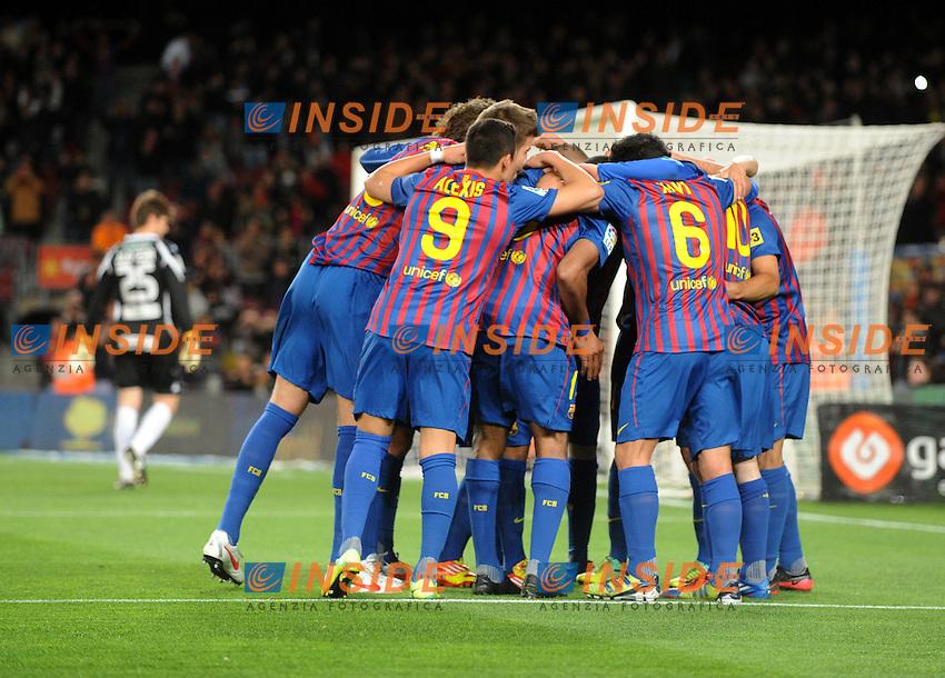 Esultanza (Barcellona).Barcellona 20/03/2012 Nou Camp.Football Calcio 2011/2012 Liga Spagnola.Barcellona Vs Granada.Foto Insidefoto / Paco Largo / Panoramic.ITALY ONLY