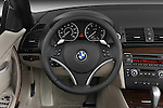 Steering wheel view of a 2007 - 2011 BMW 1-Series 128i convertible.