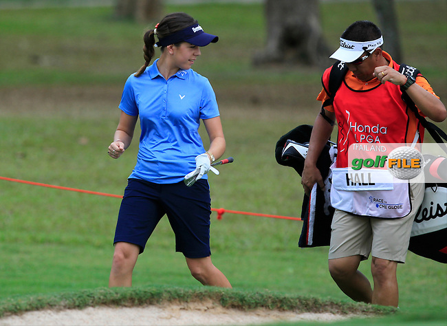 Georgia Hall (ENG) on the 10th fairway during Round 1 of the Honda LPGA Thailand on Thursday 23rd February 2017.<br /> Picture:  Thos Caffrey / Golffile