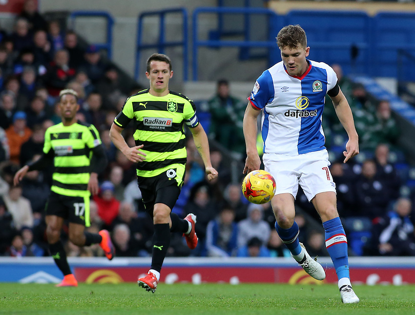 Blackburn Rovers' Sam Gallagher in action during todays match  <br /> <br /> Photographer David Shipman/CameraSport<br /> <br /> The EFL Sky Bet Championship - Blackburn Rovers v Huddersfield Town - Saturday 3rd December 2016 - Ewood Park - Blackburn<br /> <br /> World Copyright &copy; 2016 CameraSport. All rights reserved. 43 Linden Ave. Countesthorpe. Leicester. England. LE8 5PG - Tel: +44 (0) 116 277 4147 - admin@camerasport.com - www.camerasport.com