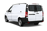 Car pictures of rear three quarter view of a 2019 Mercedes Benz Metris Base 5 Door Cargo Van angular rear