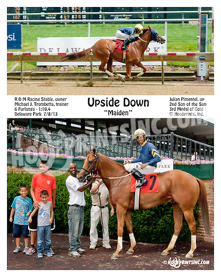 Upside Down winning at Delaware Park on 7/8/13