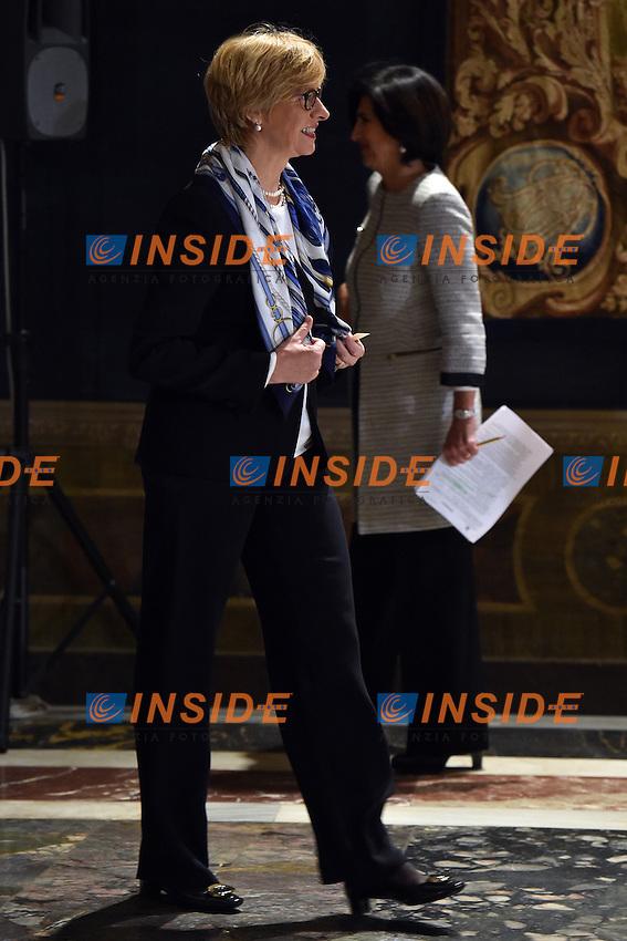Roberta Pinotti <br /> Roma 03-02-2015 Quirinale <br /> Insediamento Presidente della Repubblica italiana. Newly elected President of italian Republic <br /> Foto Andrea Staccioli / Insidefoto
