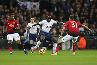 Tottenham Hotspur's Moussa Sissoko takes on Manchester United's Nemanja Matic<br /> <br /> Photographer Rob Newell/CameraSport<br /> <br /> The Premier League - Tottenham Hotspur v Manchester United - Sunday 13th January 2019 - Wembley Stadium - London<br /> <br /> World Copyright &copy; 2019 CameraSport. All rights reserved. 43 Linden Ave. Countesthorpe. Leicester. England. LE8 5PG - Tel: +44 (0) 116 277 4147 - admin@camerasport.com - www.camerasport.com