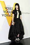 Chinese actress Fan Bingbing poses for the cameras during the opening celebration for Louis Vuitton's ''Volez, Voguez, Voyagez'' exhibition on April 21, 2016, Tokyo, Japan. After a successful run in Paris, the luxury fashion brand now brings the instalment to Tokyo, which traces Louis Vuitton's history from 1854 to today. Some 1,000 objects, including rare trunks, photographs and handwritten client cards will be displayed. Japanese room will be set up specially for Japan, showcasing such rare items as makeup and tea ceremony trunks for kabuki actor Ebizo XI. The exhibition will be open to the public free of charge from April 23 to June 19. (Photo by Rodrigo Reyes Marin/AFLO)