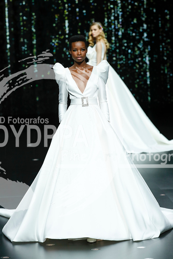 Pronovias fashion show during the Valmont Barcelona Bridal Fashion Week at the Italian Pavilion Fira Montjuic in Barcelona on April 26, 2019.<br /> Maria Borges