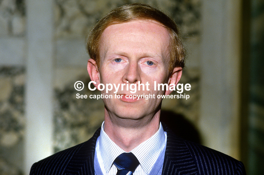 Reg Empey, councillor, Ulster Unionist, Belfast, N Ireland, 19850508RE1..Copyright Image from Victor Patterson, 54 Dorchester Park, Belfast, UK, BT9 6RJ..Tel: +44 28 9066 1296.Mob: +44 7802 353836.Voicemail +44 20 8816 7153.Skype: victorpattersonbelfast.Email: victorpatterson@me.com.Email: victorpatterson@ireland.com (back-up)..IMPORTANT: If you wish to use this image or any other of my images please go to www.victorpatterson.com and click on the Terms & Conditions. Then contact me by email or phone with the reference number(s) of the image(s) concerned.