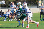 Los Angeles, CA 02/06/16 - Drew Marinelli (Loyola Marymount #22) and unidentified Cal Poly player(s)in action during the Cal Poly SLO Mustangs vs Loyola Marymount Lions MCLA Men's Lacrosse game.  Cal Poly defeated LMU 24-5