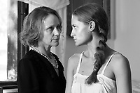1945 (2017)<br /> Anna Szentes (Eszter Nagy-K&aacute;l&oacute;zy) confronts her future daughter-in-law Kisr&oacute;zsi (D&oacute;ra Sztarenki) on her wedding day.<br /> *Filmstill - Editorial Use Only*<br /> CAP/FB<br /> Image supplied by Capital Pictures