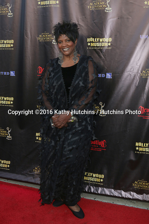 LOS ANGELES - APR 27:  Anna Maria Horsford at the 2016 Daytime EMMY Awards Nominees Reception at the Hollywood Museum on April 27, 2016 in Los Angeles, CA