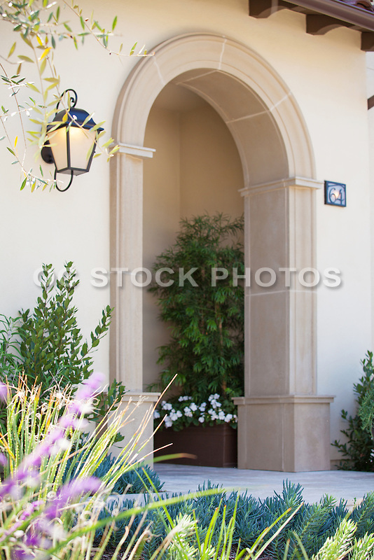 Custom Built Mediterranean Home Stock Photo
